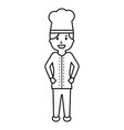 female chef worker professional cooking vector image vector image