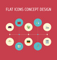 flat icons towel laundromat means for cleaning vector image vector image