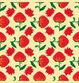 flower seamless pattern waratah telopea vector image vector image