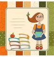 Funny schoolgirl vector image vector image