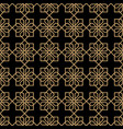 geometric dark seamless flower pattern in vector image