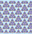 geometric pattern in moroccan style on a blue vector image vector image