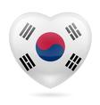 Heart icon of South Korea vector image