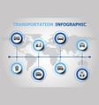 infographic design with transportation icons vector image vector image