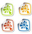 ink blot stickers vector image vector image