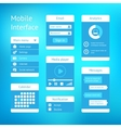 interface template design vector image