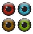 iris eye realistic set design isolated on white vector image