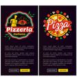 italian pizza of best quality vertical web pages vector image vector image