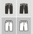 jean shorts vector image vector image