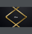 luxury gold frame vector image