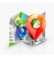 Map navigation icon vector image vector image
