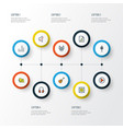 music colorful outline icons set collection of vector image vector image