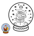 numbers game for children snowball with santa vector image vector image