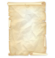 Old crumpled scroll of yellowed paper vector image vector image