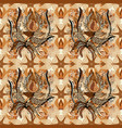on beige orange and brown colors abstract pattern vector image vector image