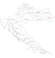 Outline Croatia map vector image vector image