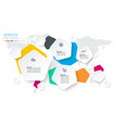 pentagons label infographic with 4 steps vector image
