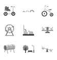 Play garden set icons in monochrome style Big vector image vector image
