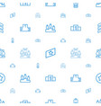 rank icons pattern seamless white background vector image vector image