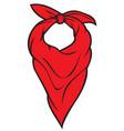 red bandana vector image vector image