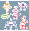 Robot stickers vector | Price: 1 Credit (USD $1)