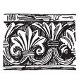 romanesque motive pointed arches vintage engraving vector image vector image