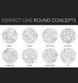 round outline concept sewing camping travel vector image vector image