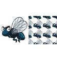 seamless background design with housefly vector image vector image