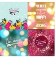 Set of Christmas postcard templates vector image vector image