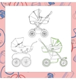 Set of diffrent prams vector image vector image