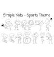 set of doodle children character vector image