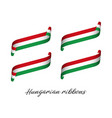 set of four modern colored hungarian ribbons vector image vector image