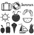 set of summer design elements vector image
