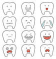 set of tooth vector image