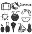set summer design elements vector image