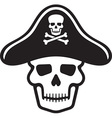 Skull and cross bones vector image vector image
