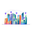 smart city with wireless communication technology vector image vector image