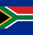 south african flag flat layout vector image