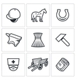 Stable icons vector image vector image