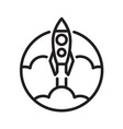 symbol outline rocket vector image