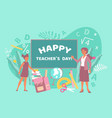 teachers day flat composition vector image