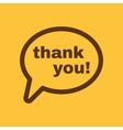 The thank you icon Thanks symbol Flat vector image vector image