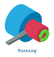 turning metalwork icon isometric 3d style vector image vector image