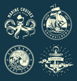 vintage marine and nautical logos vector image vector image