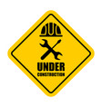 warning sign under construction vector image vector image