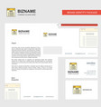 website business letterhead envelope and visiting vector image vector image