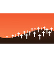 Graveyard background vector image