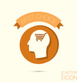 Icon head think silhoutte man and his mind about c vector image