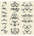 Set monograms floral ornaments baroque style vector image