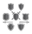 Simple shields badges design Retro design vector image